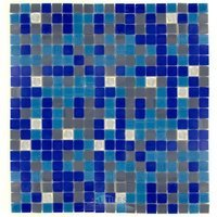 "Vicenza Mosaico Glass Tiles - Mosaic Blends 5/8"" - Film Faced Sheets in Colombina"