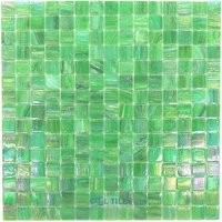 "Vicenza Mosaico Glass Tiles - 3/4"" Iride Glass - 3/4"" Glass Film-Faced Sheets in Divot"