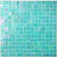 "Vicenza Mosaico Glass Tiles - 3/4"" Iride Glass - 3/4"" Glass Film-Faced Sheets in Water Lily"
