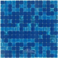 "Vicenza Mosaico Glass Tiles - Mosaic Blends 3/4"" - Film-Faced Sheets in Kinetic"