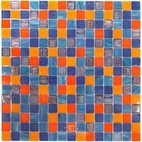 "Vicenza Mosaico Glass Tiles - Mosaic Blends 3/4"" - Film-Faced Sheets in Justice"