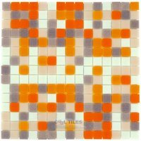 "Vicenza Mosaico Glass Tiles - Mosaic Blends 3/4"" - Film-Faced Sheets in Momento"