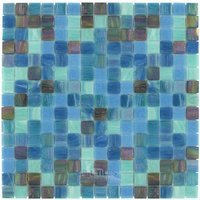 "Vicenza Mosaico Glass Tiles - Mosaic Blends 3/4"" - Film-Faced Sheets in Vivacious"