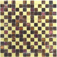 "Vicenza Mosaico Glass Tiles - Mosaic Blends 3/4"" - Film-Faced Sheets in Longing"
