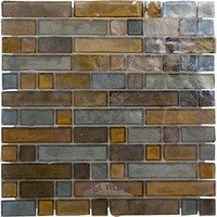Illusion Glass Tile - Desert Mirage - Glass Mosaic Tile in Sapphire Buds