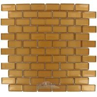 "Illusion Glass Tile - Opulent Glitter - 7/8"" x 1 7/8"" Brick Glass Mosaic Tile in Opulent Glitter"