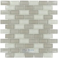 "Illusion Glass Tile - Ventura Tile - 7/8"" x 1 7/8"" Brickset Mosaic Tile in Ventura"
