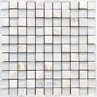 "Illusion Glass Tile - North Shore - 1"" Mosaic Tile in Sugar Island"