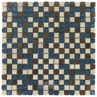 "Illusion Glass Tile - Paradise Cove - 5/8"" x 5/8"" Stone, Glass & Metal Mosaic Tile in Paradise Cove"