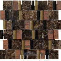Illusion Glass Tile - Inspiration - Stone, Glass and Metal Mosaic Tile in Deep Mocha