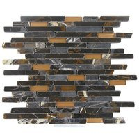 Illusion Glass Tile - Faultline - Stone & Glass Mosaic Tile in Gatlinburg Fault Line