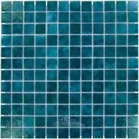 "Vidrepur - Colors - 1"" x 1"" Colors II Recycled Glass Tile in Aqua"