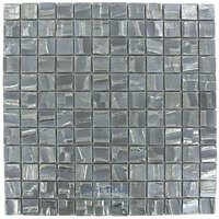 "Vidrepur - Moon - 1"" x 1"" Recycled Glass Tile on 12 3/8"" x 12 3/8"" Mesh Backed Sheet in Galaxy"