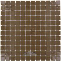 "Vidrepur - Colors - 1"" x 1"" Colors Recycled Glass Tile in Milk Chocolate"