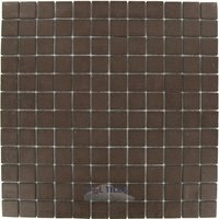 "Vidrepur - Essentials - 1"" x 1"" Recycled Glass Tile on 12 1/2"" x 12 1/2"" Mesh Backed Sheet in Chocolate"