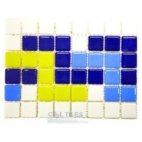 Vidrepur - Borders - Recycled Glass Tile Mesh Backed Sheet in Cenefa 3