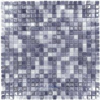 "Vidrepur - Special - 1/2"" x 1/2"" Recycled Glass Tile on 12"" x 12"" Mesh Backed Sheet in Northern Lights"