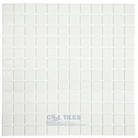 Vidrepur - Anti-Slip - Recycled Glass Tile Mesh Backed Sheet in White Slip-Resistant