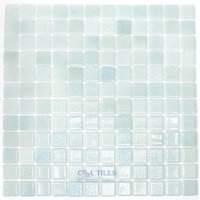 Vidrepur - Mixes - Recycled Glass Tile Mesh Backed Sheet in Fog Green Cannes Mix