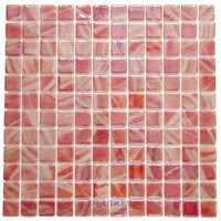 Vidrepur - Special - Recycled Glass Tile Mesh Backed Sheet in Strawberry Iridescent