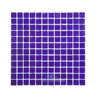 Vidrepur - Deco - Recycled Glass Tile Mesh Backed Sheet in Middle Blue