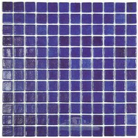 Vidrepur - Nieblas - Recycled Glass Tile Mesh Backed Sheet in Fog Navy Blue