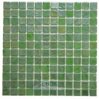 Vidrepur - Titanium - Recycled Glass Tile Mesh Backed Sheet in Green Iridescent