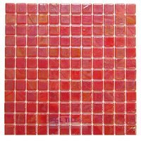 Vidrepur - Titanium - Recycled Glass Tile Mesh Backed Sheet in Red Iridescent