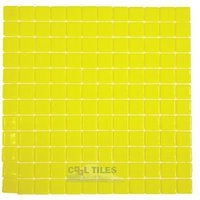 Vidrepur - Lisos - Recycled Glass Tile Mesh Backed Sheet in Yellow