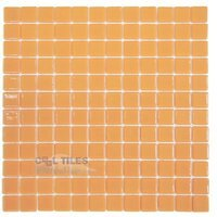 Vidrepur - Lisos - Recycled Glass Tile Mesh Backed Sheet in Orange