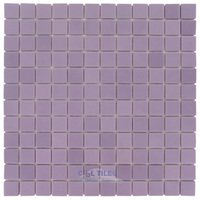 "Vidrepur - Essentials - 1"" x 1"" Recycled Glass Tile on 12 1/2"" x 12 1/2"" Meshed Backed Sheet in Cotton Candy"