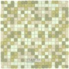 "Vicenza Mosaico Glass Tiles USA - 5/8"" Blends Film-Faced Sheets in Camomila"