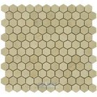 "Clear View - 1 1/8"" Hexagon in Polished Cream Beige"