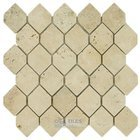 "Clear View - 2"" x 2 5/8"" Hexagon in Tumbled Classic Travertine"