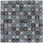 "Clear View - Bergammo - 1"" Crackle Glass Bella Adamo Mosaic Tile in Fina"