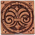 "Clear View - Resin Decos - Circle Swirl Design Bronze Deco 2"" x 2"""