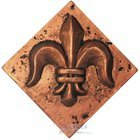 "Clear View - Resin Decos - Fleur de Lis Bronze Deco 2"" x 2"""