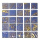 Diamond Tech Glass Tiles - Mosaic Shimmer Blue Gray Paper Faced Sheets