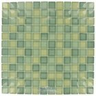"Diamond Tech Glass Tiles - Dimensions Mix 1"" x 1"" Meadow Mesh Mounted Tile"