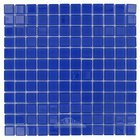 "Elida Ceramica - Dynasty Jubilee - 12""x12"" Glass Mosaic in Royal Blue"
