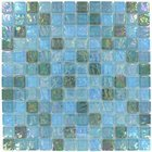"Elida Ceramica - Emperial Tile - 12""x12"" Glass Mosaic in Silver Oil"