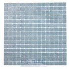 "HotGlass - Cartglass Classic - 3/4"" Glass Tile in Pale Denim 12 7/8"" x 12 7/8"" Mesh Backed Sheet"