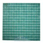 "HotGlass - Classic CartGlass 3/4"" Glass Tile in Emerald 12 7/8"" x 12 7/8"" Mesh Backed Sheet"