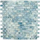 "HotGlass - Bohemia 1 3/16"" x  9/16"" Glass Tile in Azul 12 7/8"" x 12 7/8"" Paper Faced Sheets"