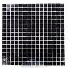 "HotGlass - Cartglass Classic - 3/4"" Glass Tile in Night Black 12 7/8"" x 12 7/8"" Mesh Backed Sheet"