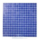 "HotGlass - Classic CartGlass 3/4"" Glass Tile in Deep Blue 12 7/8"" x 12 7/8"" Mesh Backed Sheet"