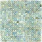 "HotGlass - Calliope 5/8""  Glass Tile in Parasol 12 3/4"" x 12 3/4"" Mesh Backed Sheet"