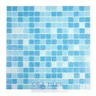 "HotGlass - Classic CartGlass Blended 3/4"" Glass Ice Blue Blend 12 7/8"" x 12 7/8"" Mesh Backed Sheet"