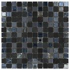 "Onix Mosaico Glass Tiles - Mystic Glass Series - 1"" x 1"" Tile in Agata Diamond Black"