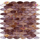 Onix Glass Tiles - GeoGlass Series - Iridescent Brown Ovals